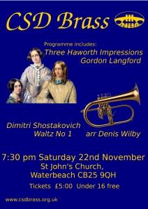 November 22nd 2014 concert poster